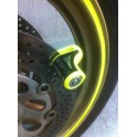 Antivol bloque-disque BUMPER 74D Ø5mm jaune (scooter, cyclo...)