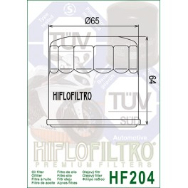 HF204 Filtre à huile Hiflofiltro