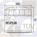 HF134 Filtre à huile VESRAH SF-3008 *