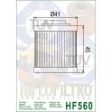 HF560 Filtre à huile Hiflofiltro